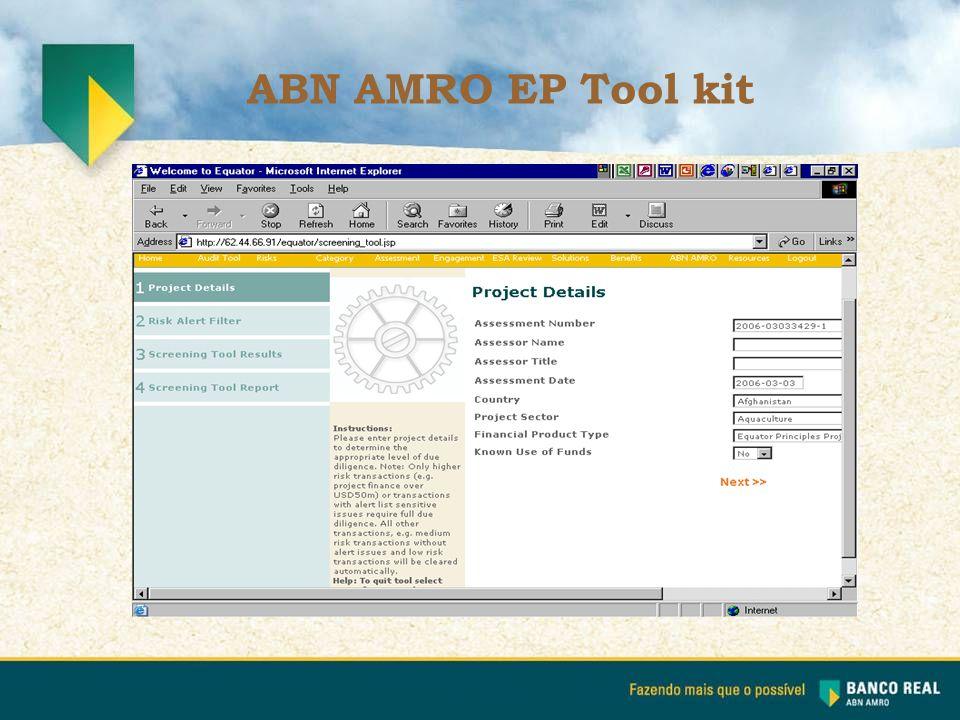 ABN AMRO EP Tool kit