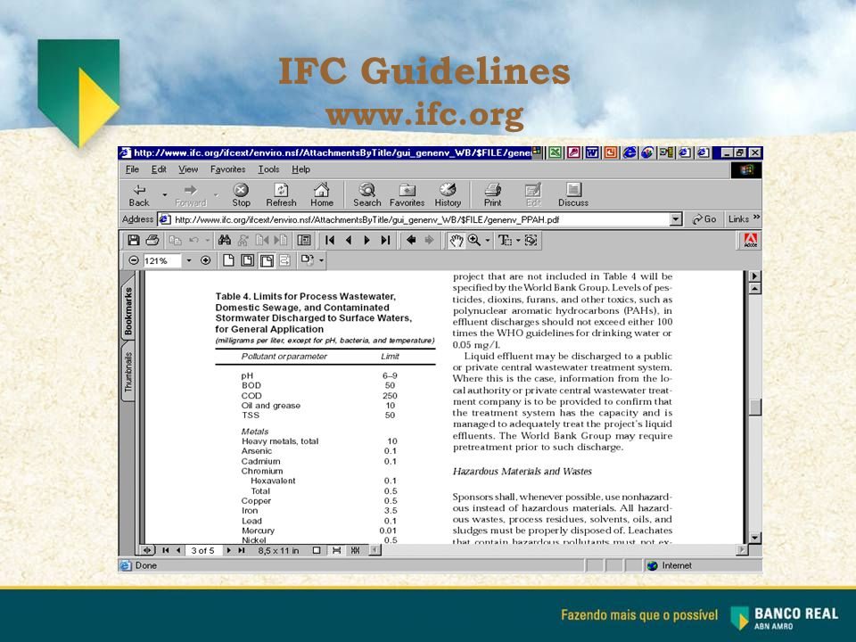 IFC Guidelines www.ifc.org