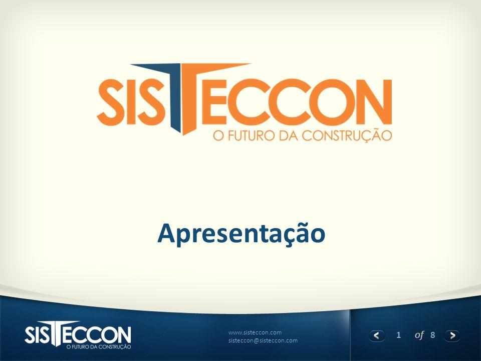 1 of 8 www.sisteccon.com sisteccon@sisteccon.com Apresentação