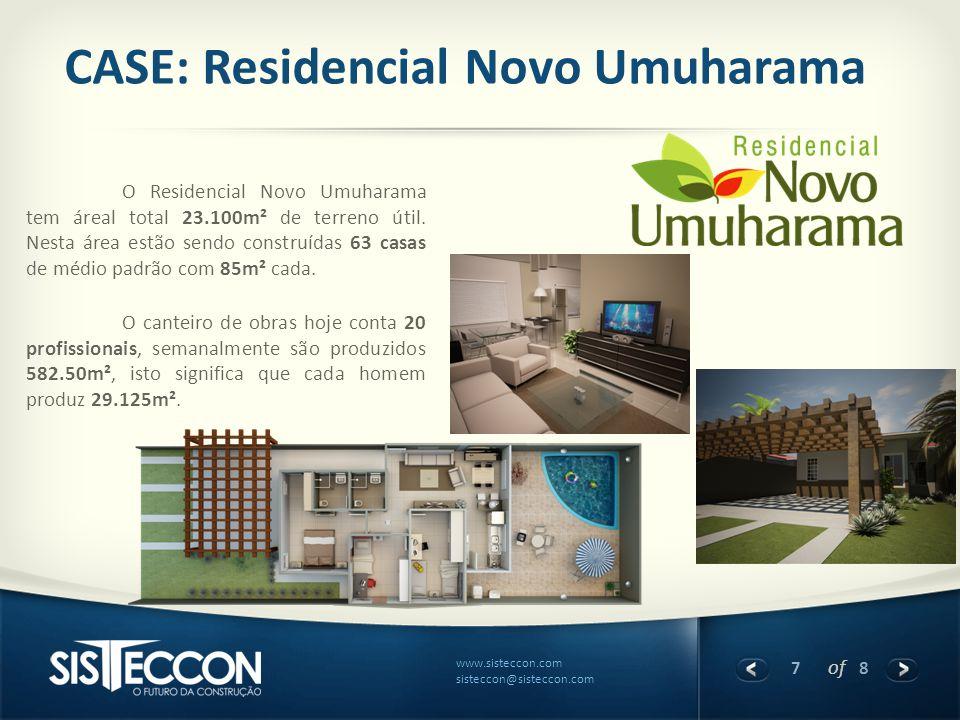 7 of 8 www.sisteccon.com sisteccon@sisteccon.com CASE: Residencial Novo Umuharama O Residencial Novo Umuharama tem áreal total 23.100m² de terreno úti