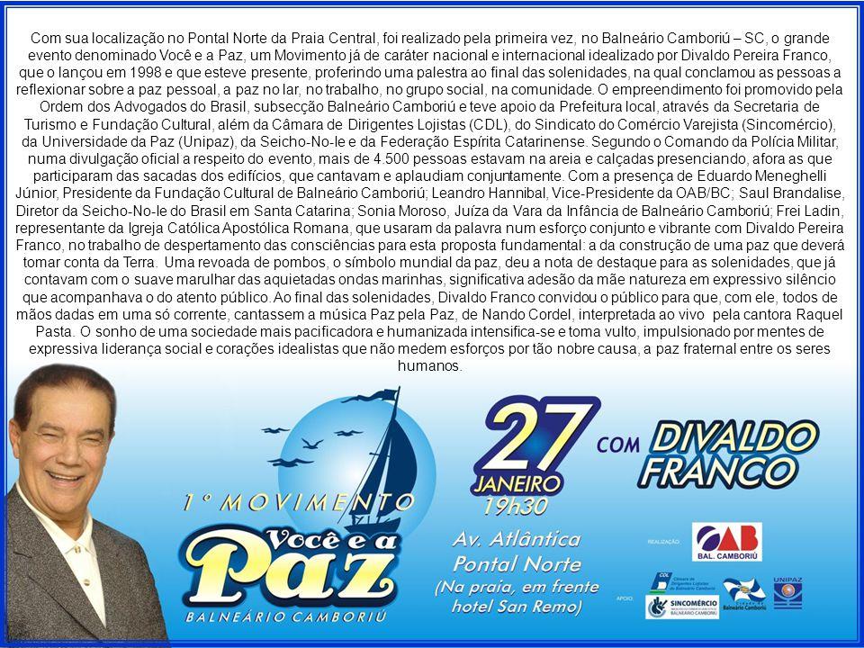 No dia seguinte, 28/01, Divaldo Franco esteve em Florianópolis, e pela manhã, foi ao Centro Espírita Amor e Humildade do Apóstolo, Instituição que comemora seu centenário de atividades,...