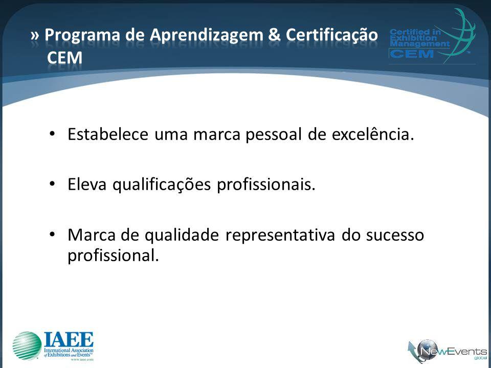 • Estabelece uma marca pessoal de excelência. • Eleva qualificações profissionais. • Marca de qualidade representativa do sucesso profissional.