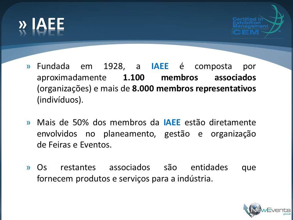 »Fundada em 1928, a IAEE é composta por aproximadamente 1.100 membros associados (organizações) e mais de 8.000 membros representativos (indivíduos).