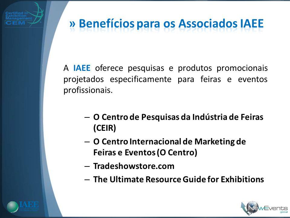 A IAEE oferece pesquisas e produtos promocionais projetados especificamente para feiras e eventos profissionais. – O Centro de Pesquisas da Indústria