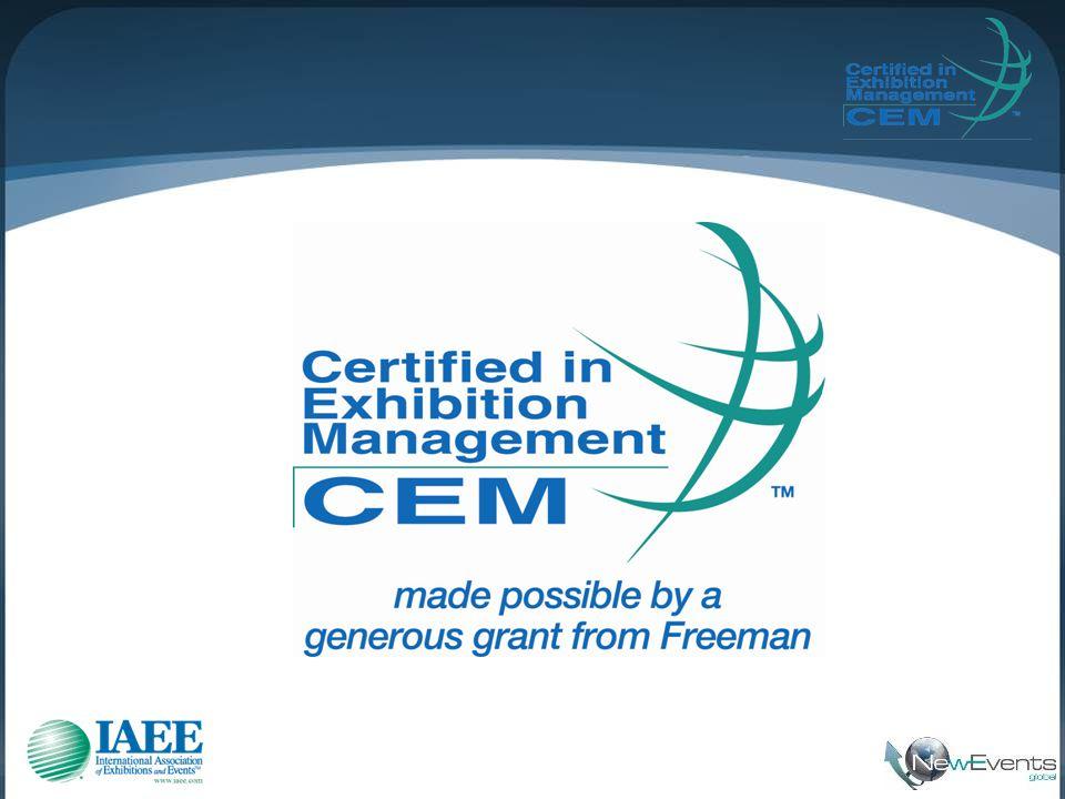• A certificação CEM é reconhecida internacionalmente como marca pessoal de excelência.