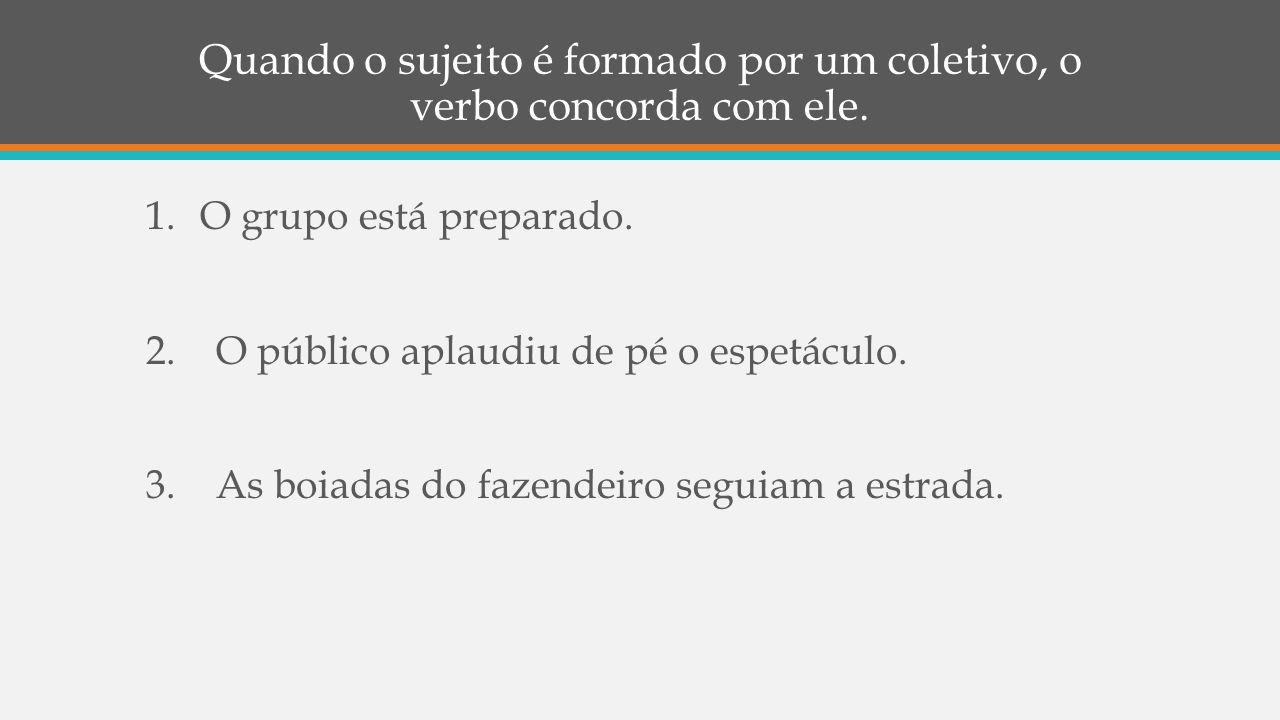 VERBOS IMPESSOAIS CONCORDÂNCIA VERBAL