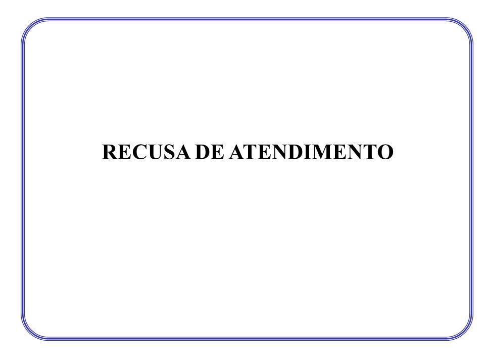 RECUSA DE ATENDIMENTO