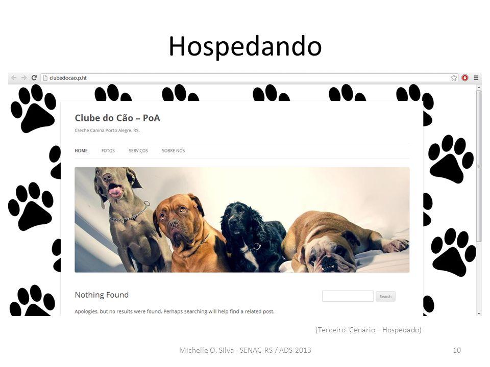 Hospedando 10Michelle O. Silva - SENAC-RS / ADS 2013 (Terceiro Cenário – Hospedado)