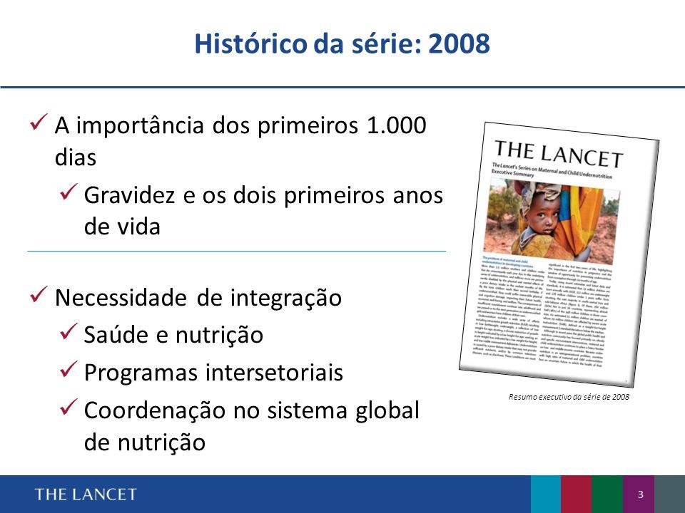 14 Tendências de déficit ponderal e obesidade em mulheres de 20 a 29 anos por região (1980–2008)