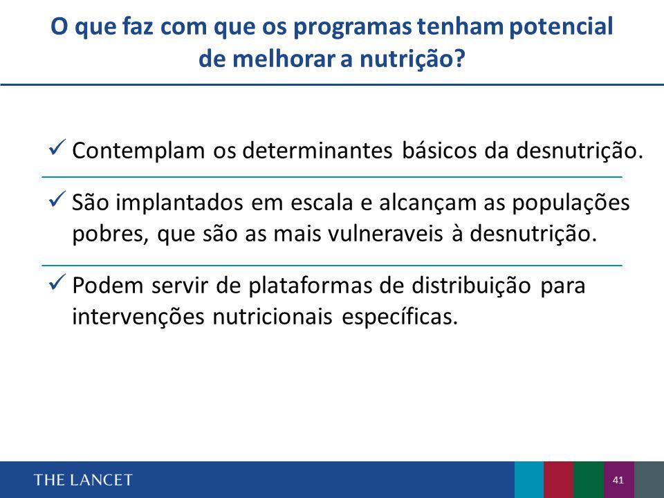  Contemplam os determinantes básicos da desnutrição.