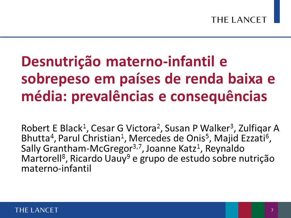 Políticas de combate à desnutrição: maior compromisso e aceleração dos efeitos Stuart Gillespie 1, Lawrence Haddad 2, Venkatesh Mannar 3, Purnima Menon 1, Nick Nisbett 2 e grupo de estudo sobre nutrição materno-infantil 48