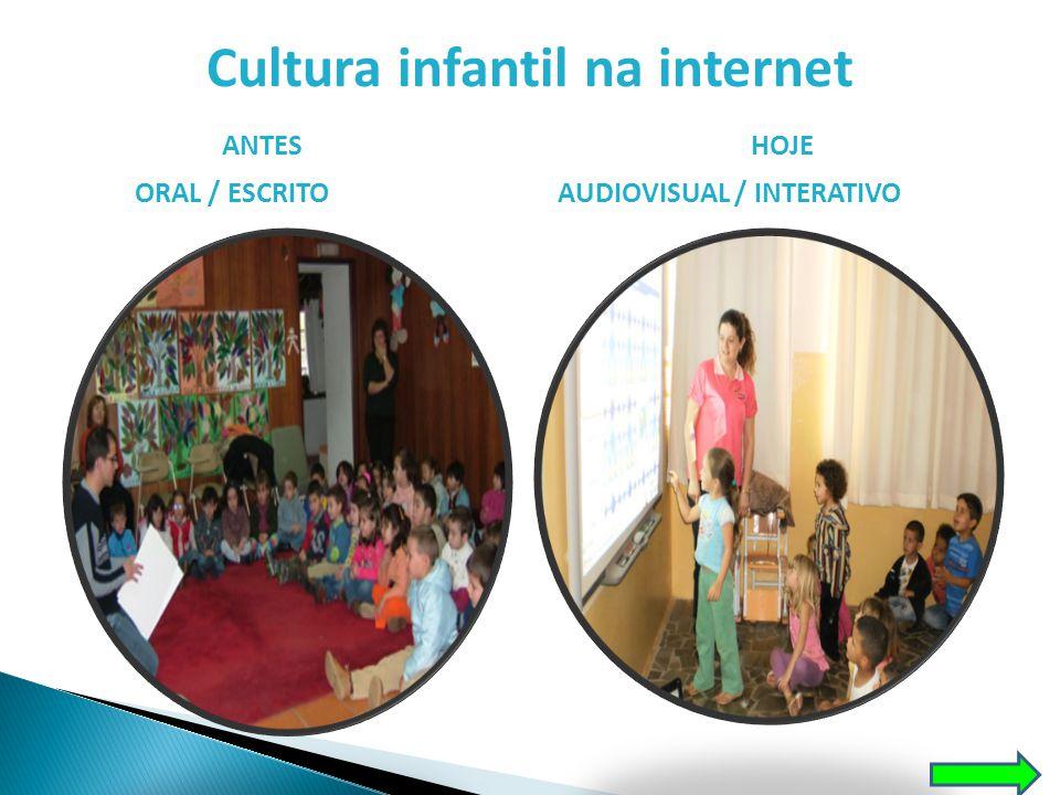 Cultura infantil na internet ANTESHOJE ORAL / ESCRITOAUDIOVISUAL / INTERATIVO