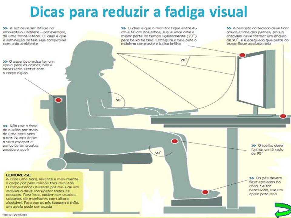 Dicas para reduzir a fadiga visual