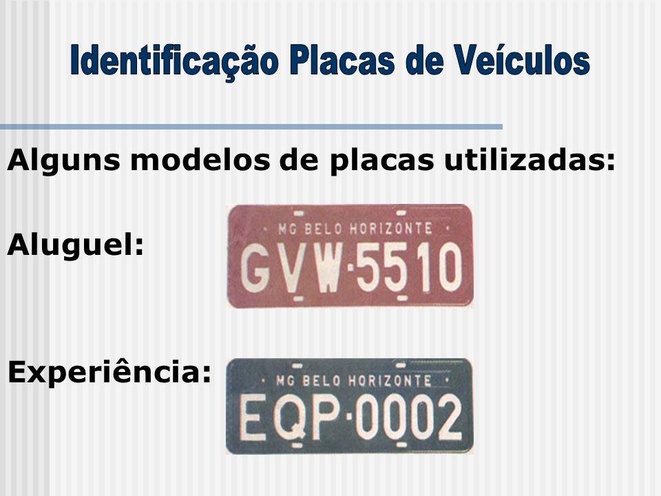 Alguns modelos de placas utilizadas: Aluguel: Experiência: