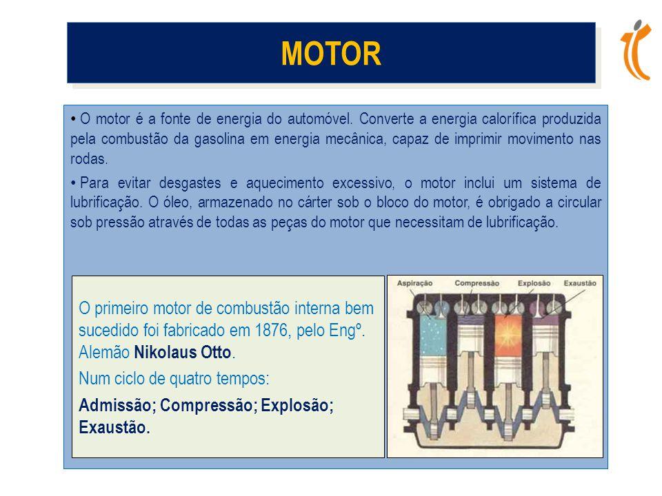 • O motor é a fonte de energia do automóvel.