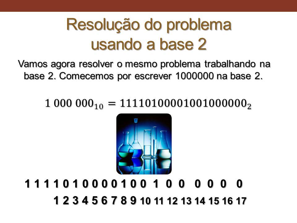 Resolução do problema usando a base 2