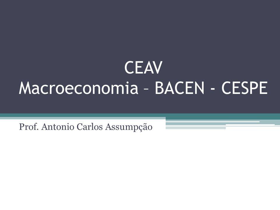 CEAV Macroeconomia – BACEN - CESPE Prof. Antonio Carlos Assumpção