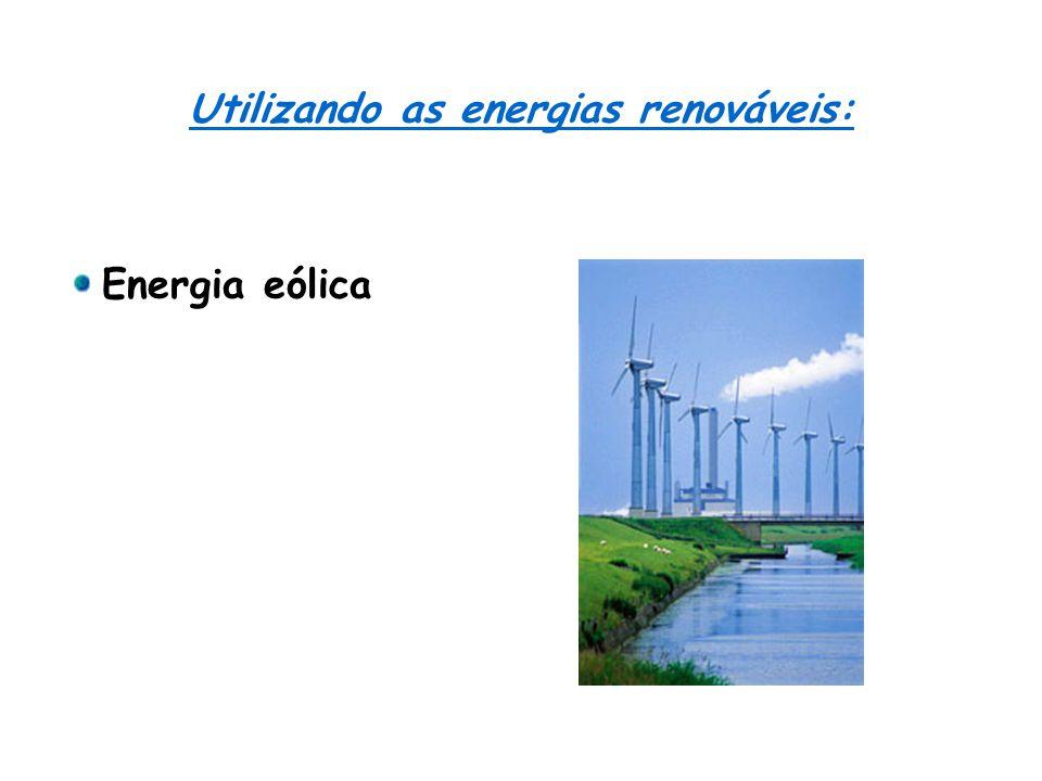 Utilizando as energias renováveis: Energia eólica
