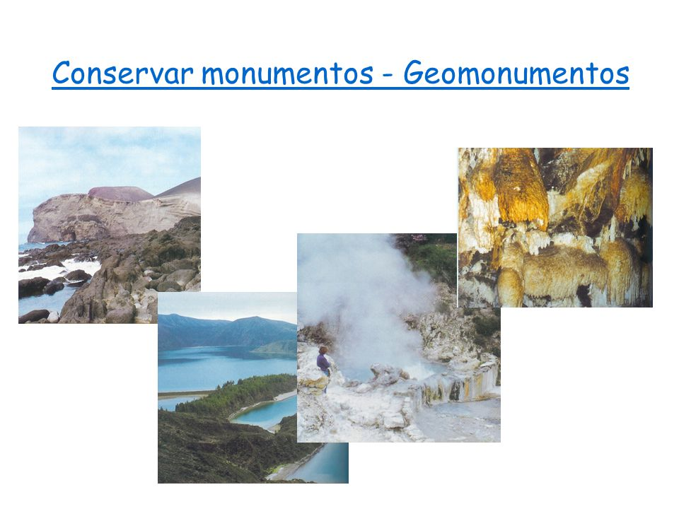 Conservar monumentos - Geomonumentos