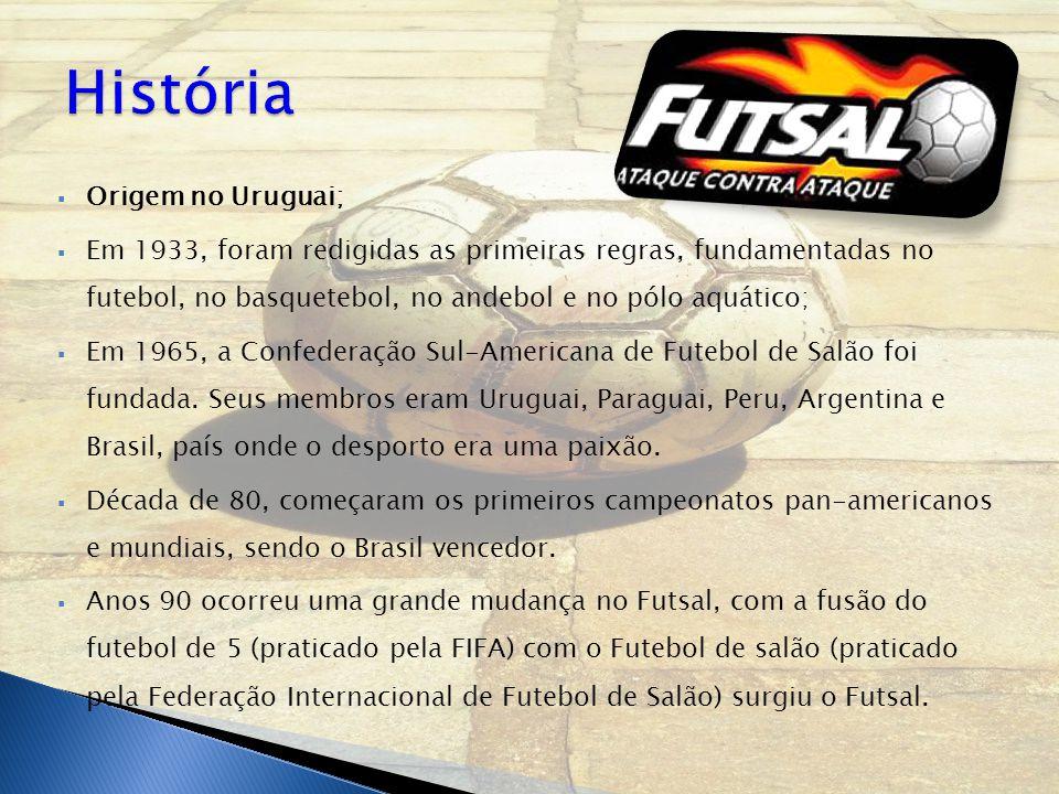 Origem no Uruguai;  Em 1933, foram redigidas as primeiras regras, fundamentadas no futebol, no basquetebol, no andebol e no pólo aquático;  Em 196