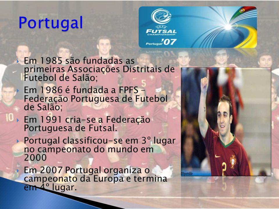  Em 1985 são fundadas as primeiras Associações Distritais de Futebol de Salão;  Em 1986 é fundada a FPFS – Federação Portuguesa de Futebol de Salão;