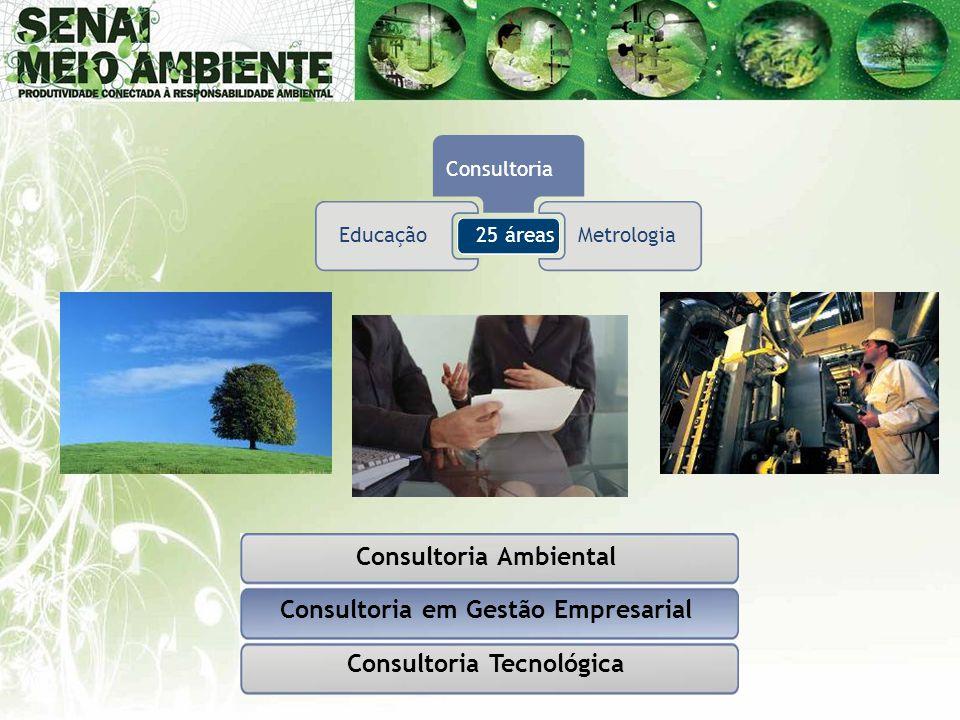 Consultoria Ambiental Consultoria em Gestão Empresarial Consultoria Tecnológica 25 áreasEducação Consultoria Metrologia
