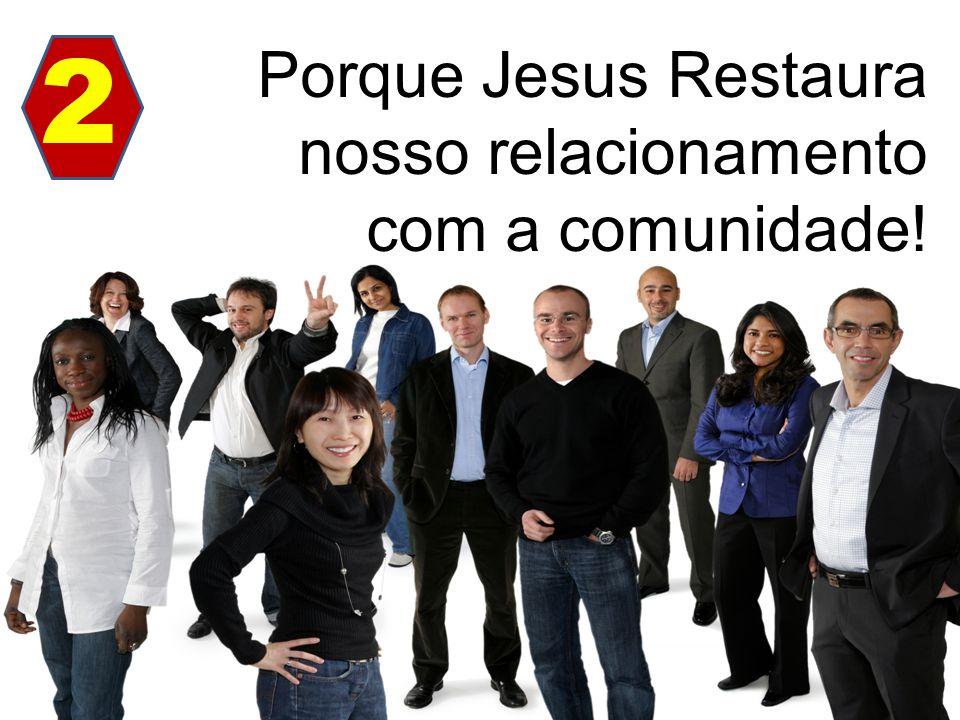 Porque Jesus Restaura nosso relacionamento com a comunidade! 2