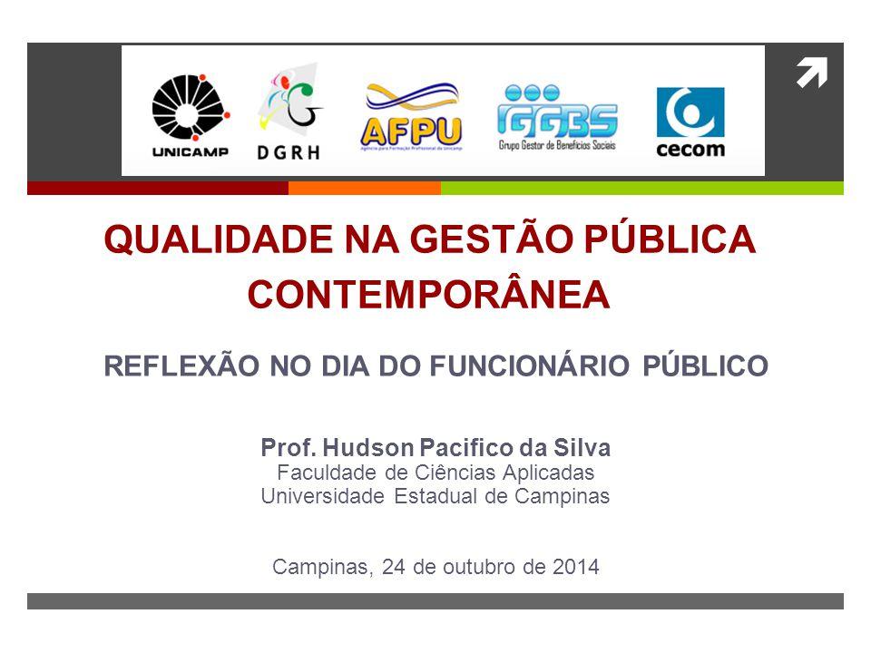  QUALIDADE NA GESTÃO PÚBLICA CONTEMPORÂNEA REFLEXÃO NO DIA DO FUNCIONÁRIO PÚBLICO Prof.