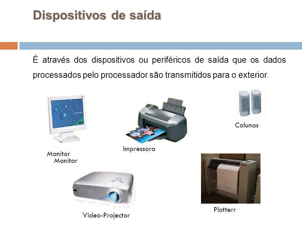 30 Dispositivos de saída É através dos dispositivos ou periféricos de saída que os dados processados pelo processador são transmitidos para o exterior