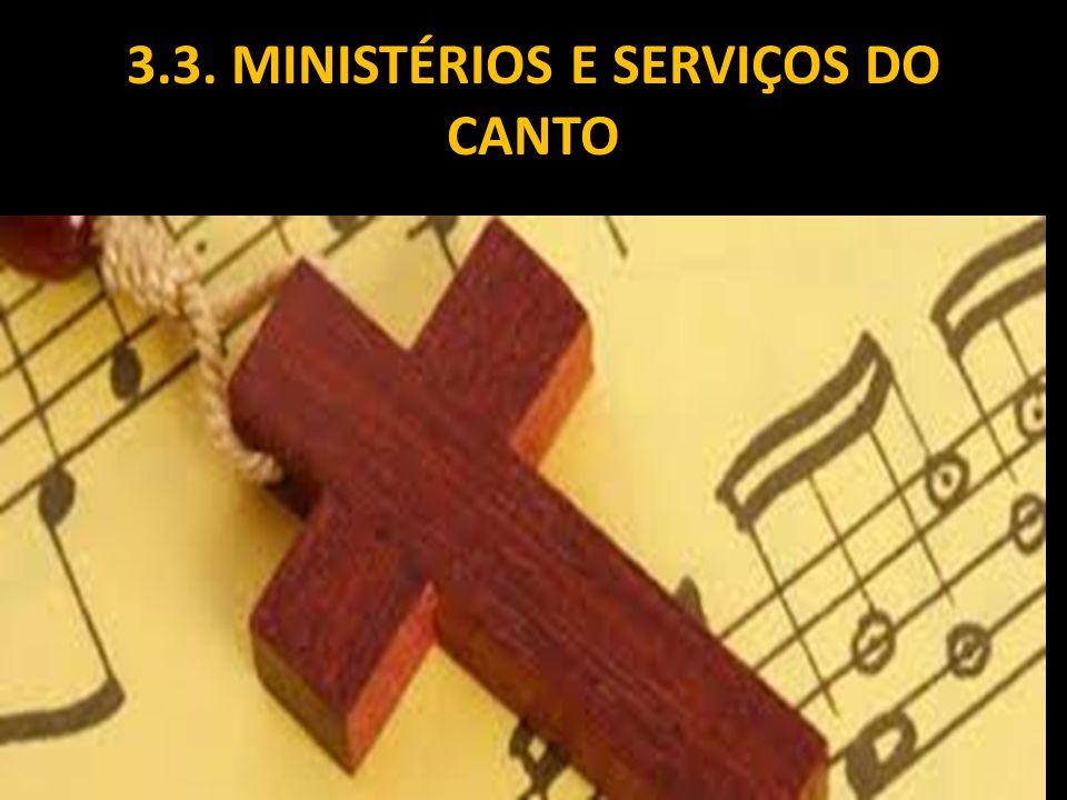 3.3. MINISTÉRIOS E SERVIÇOS DO CANTO
