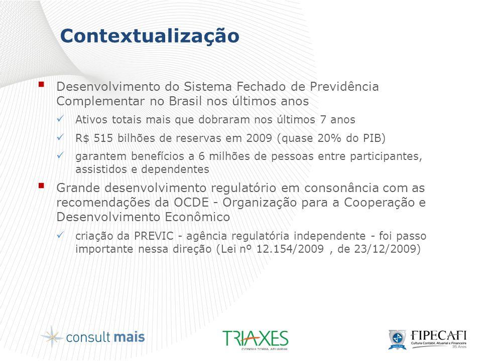 Contextualização  Desenvolvimento do Sistema Fechado de Previdência Complementar no Brasil nos últimos anos  Ativos totais mais que dobraram nos últ