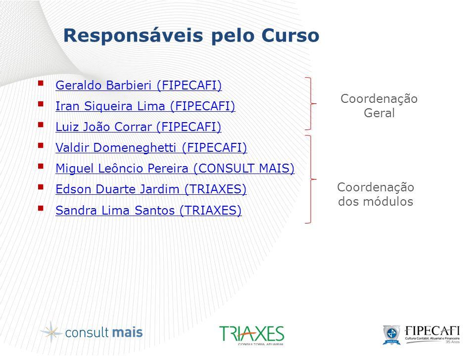 Curriculum dos Professores Coordenadores  Geraldo Barbieri, Dr.
