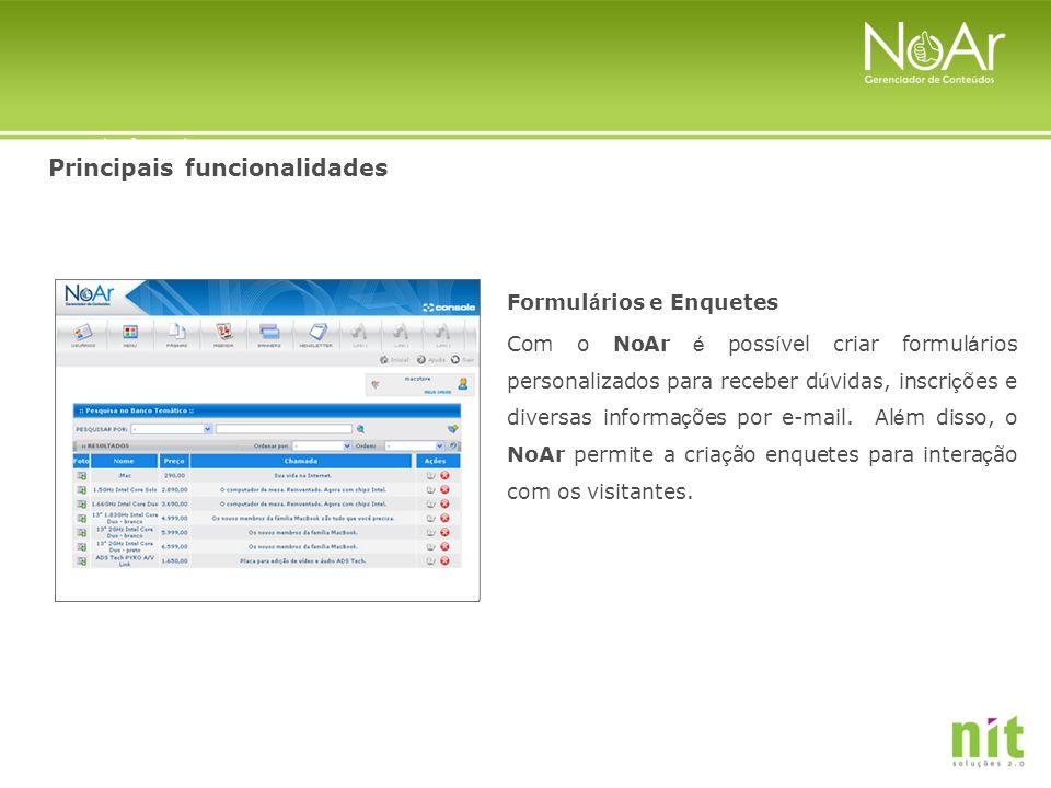 Principais funcionalidades Malling (Newsletter), RSS Com o NoAr o contato com o público não se restringe ao site.