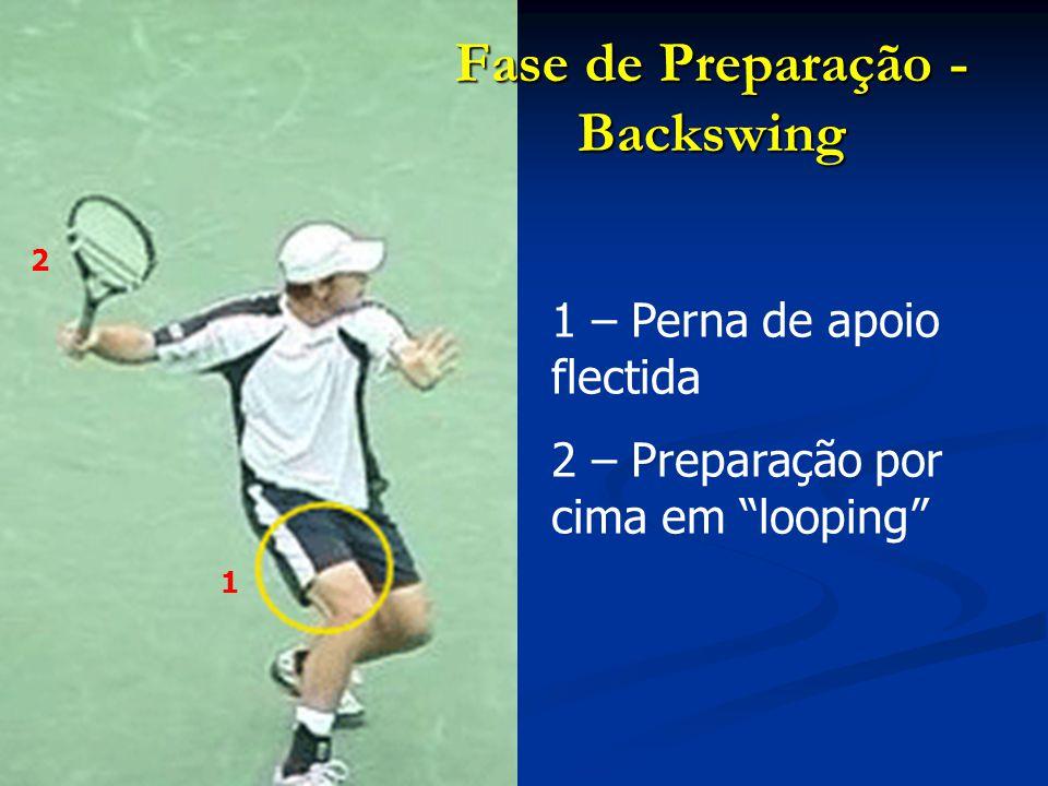 3 – Rotação do tronco 4 – Apoios afastados e centro de gravidade bem estabilizado na base de sustentação Fase de Preparação - Backswing 3 4
