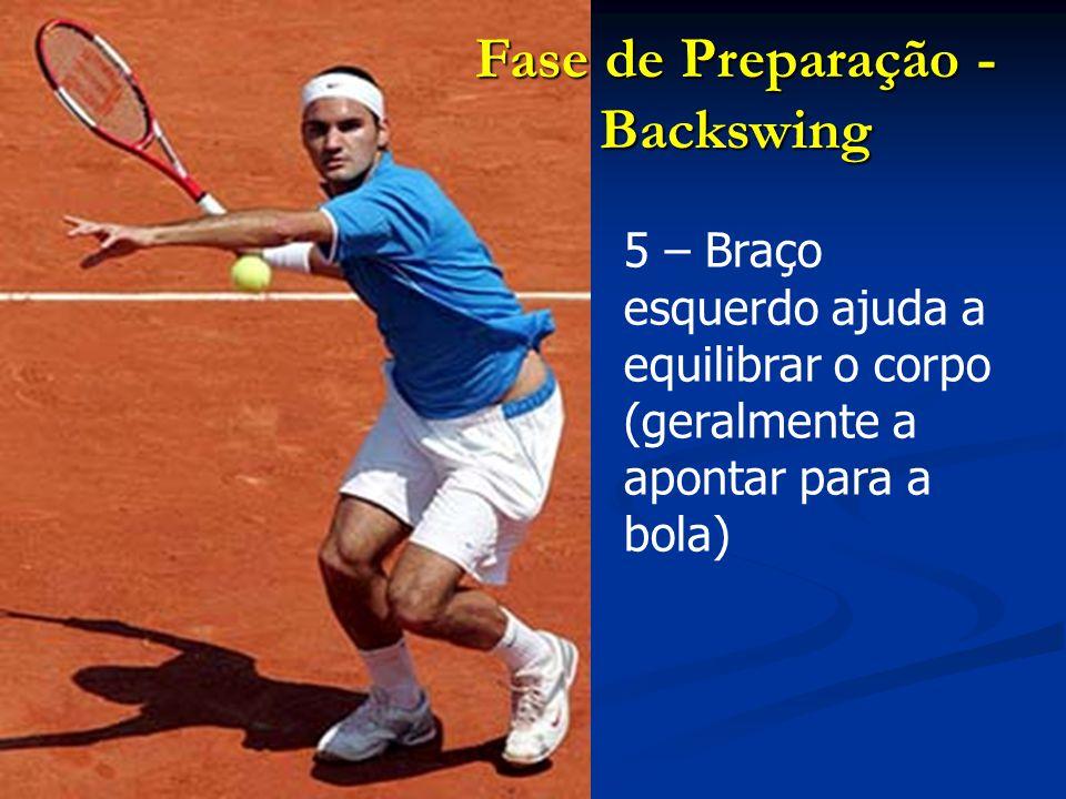 3 – Deixar o braço solto (sem tensão muscular) A cada opção táctica no movimento, corresponde uma terminação.