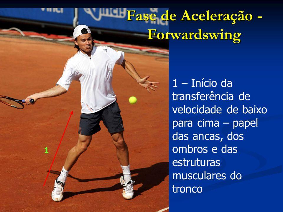 2 – Ataque da bola de baixo para a frente e para cima Fase de Aceleração - Forwardswing 2
