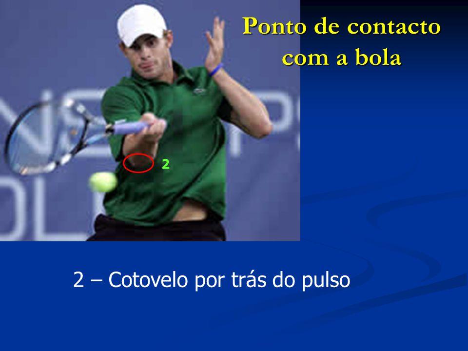 3 – Cotovelo perto do corpo Ponto de contacto com a bola 3