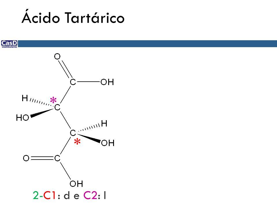Ácido Tartárico * * 2-C1: d e C2: l