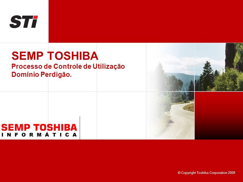 © Copyright Toshiba Corporation 2009 SEMP TOSHIBA Processo de Controle de Utilização Domínio Perdigão.