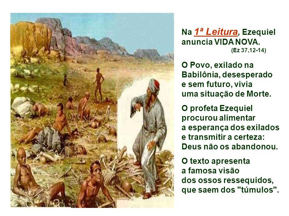 A liturgia continua a Catequese Batismal da Quaresma. Vimos: - Cristo, ÁGUA para a nossa sede (Samaritana); - Cristo, LUZ para as nossas trevas (Cura