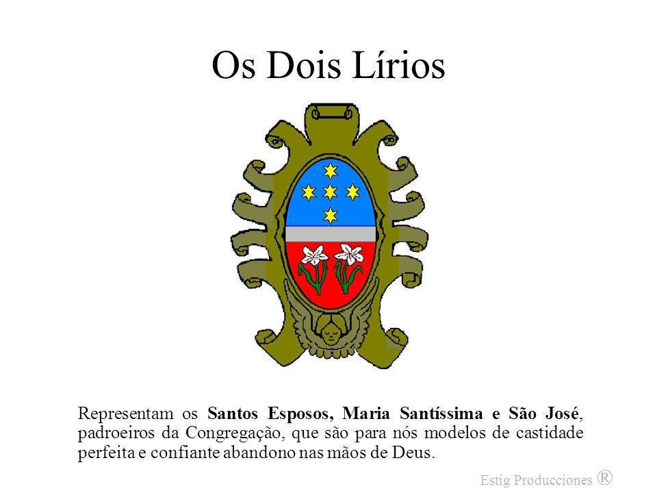 As Cinco Estrelas Apresentadas em forma de cruz, as Cinco Estrelas representam os Estigmas Gloriosos de Jesus Cristo, que nos convidam a assumir atitu