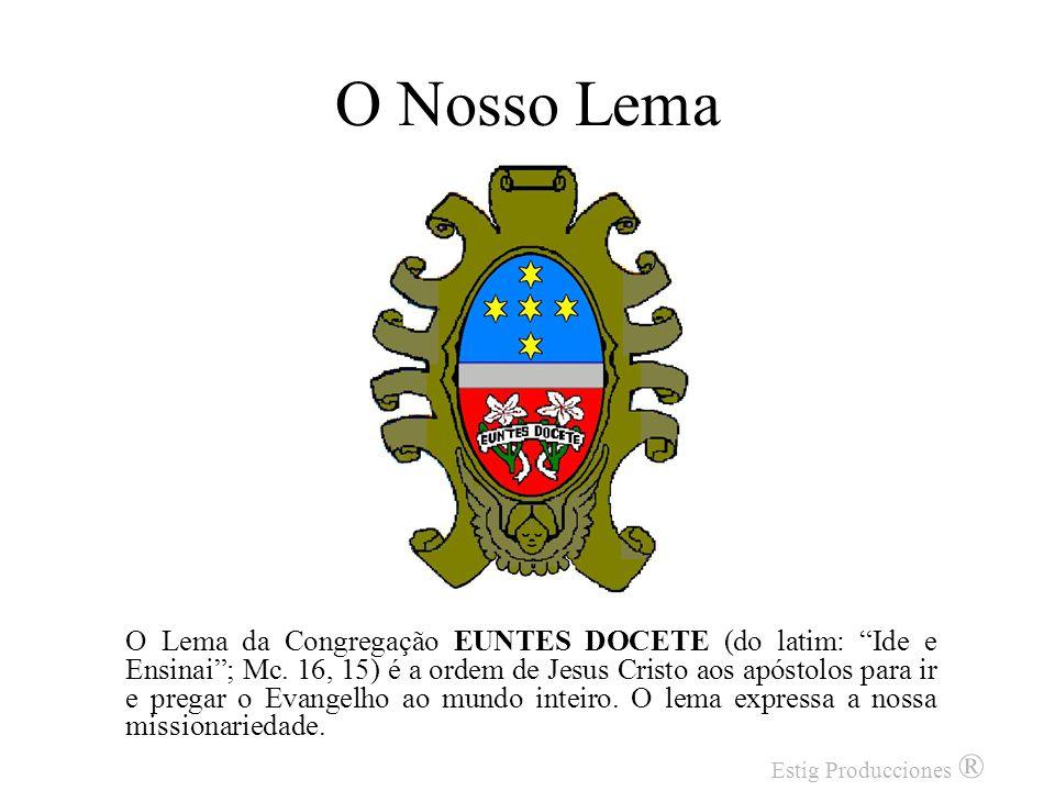 Os Dois Lírios Representam os Santos Esposos, Maria Santíssima e São José, padroeiros da Congregação, que são para nós modelos de castidade perfeita e