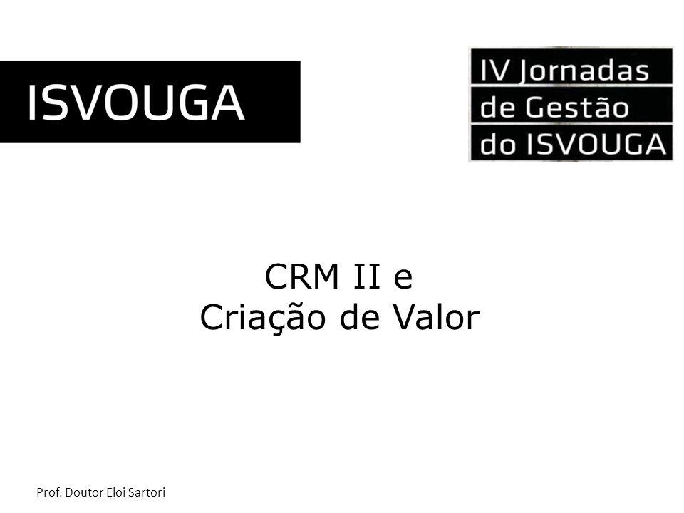 Prof. Doutor Eloi Sartori CRM II e Criação de Valor