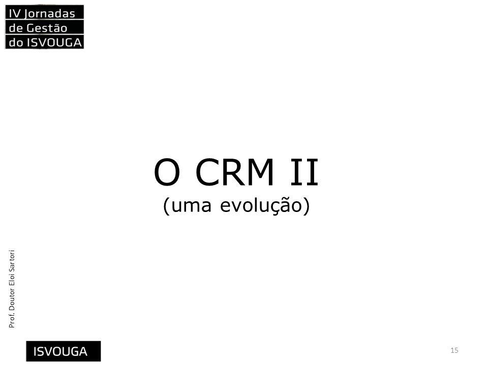 Prof. Doutor Eloi Sartori O CRM II (uma evolução) 15