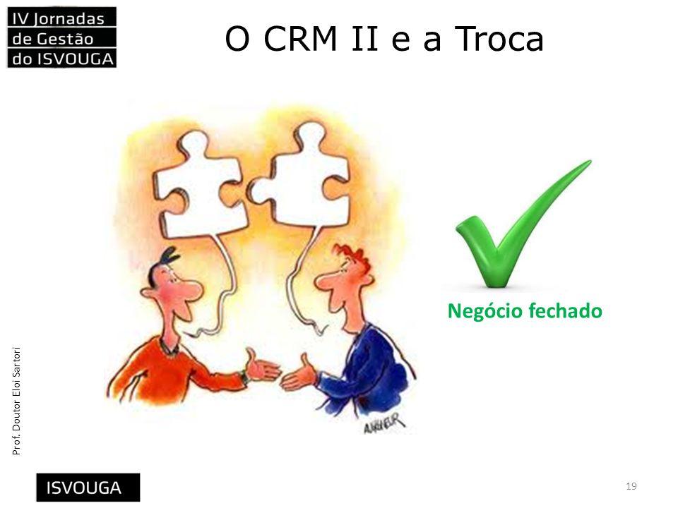 Prof. Doutor Eloi Sartori O CRM II e a Troca 19 Negócio fechado