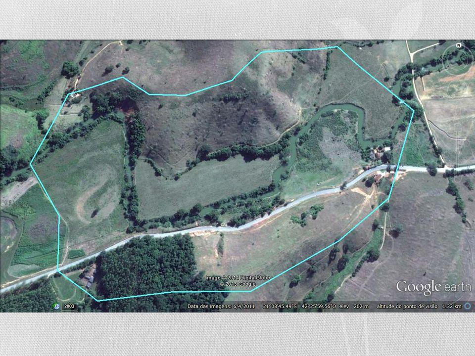 Soluções ATUAR EM UMA BACIA PILOTO • Escolhida uma área com aproximadamente 1ha, numa extensão de cerca de 2km do Rio Muriaé, na zona rural da cidade