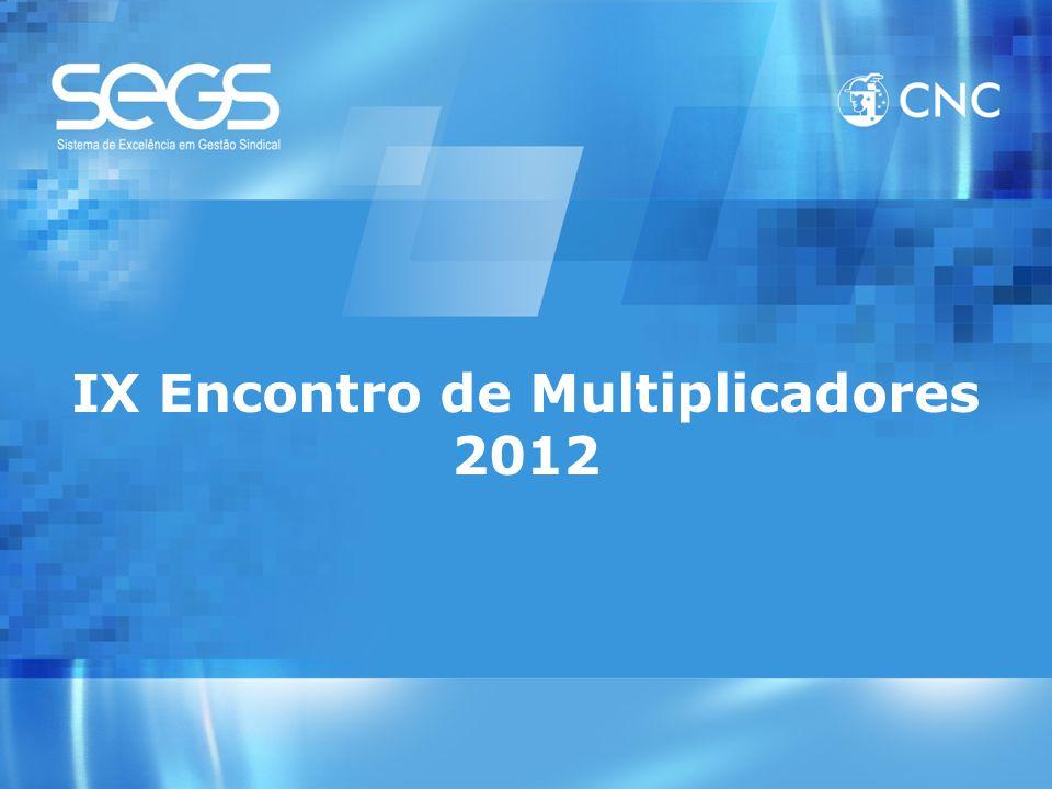 Estatísticas do SEGS – Resultados Ações Priorizadas pelas Federações Diretrizes para Avaliação de Consenso e Reconhecimento Perspectivas para 2009 II Encontro de Multiplicadores 07 novembro 2008 – CNC RJ RETROSPECTIVA SEGS