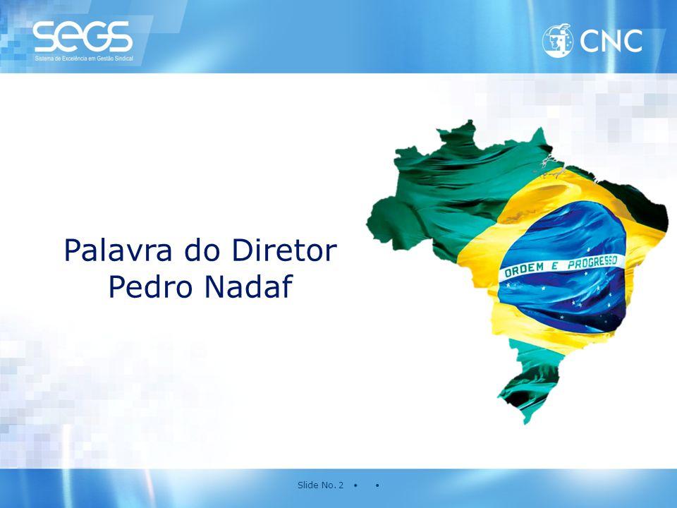 Slide No. 2 • • Palavra do Diretor Pedro Nadaf