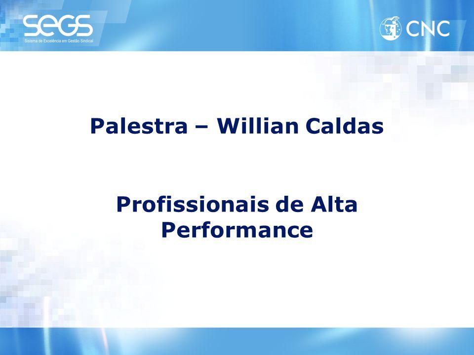 Palestra – Willian Caldas Profissionais de Alta Performance