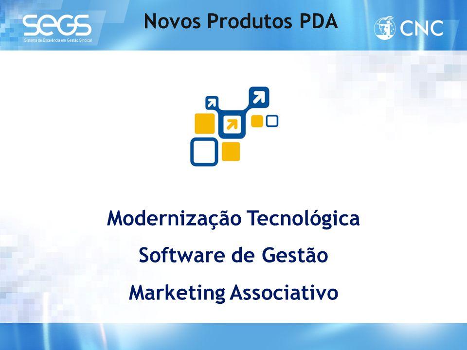 Modernização Tecnológica Software de Gestão Marketing Associativo Novos Produtos PDA